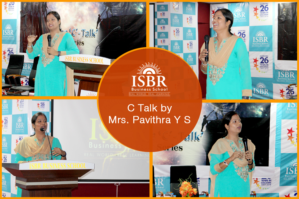 C Talk by Pavithra Y S