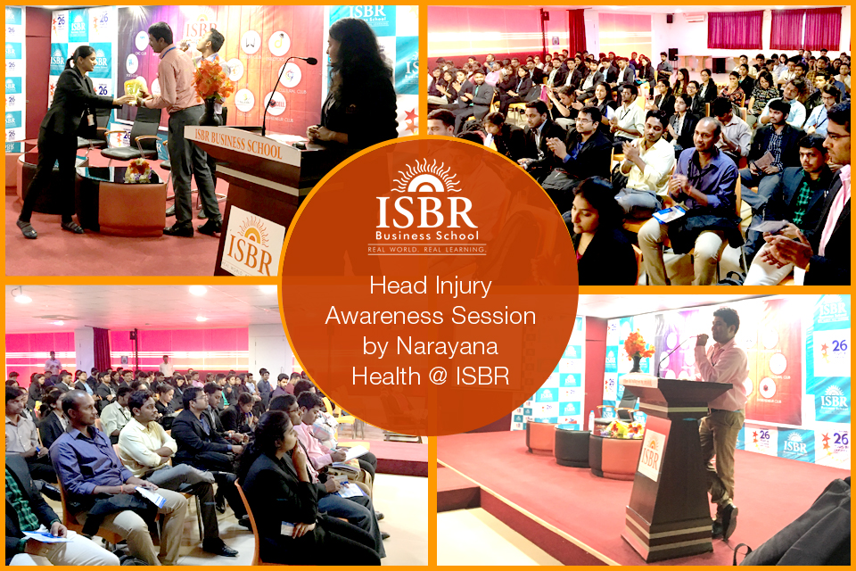 Head Injury Awareness Session @ ISBR in association with Narayana Hrudyalaya
