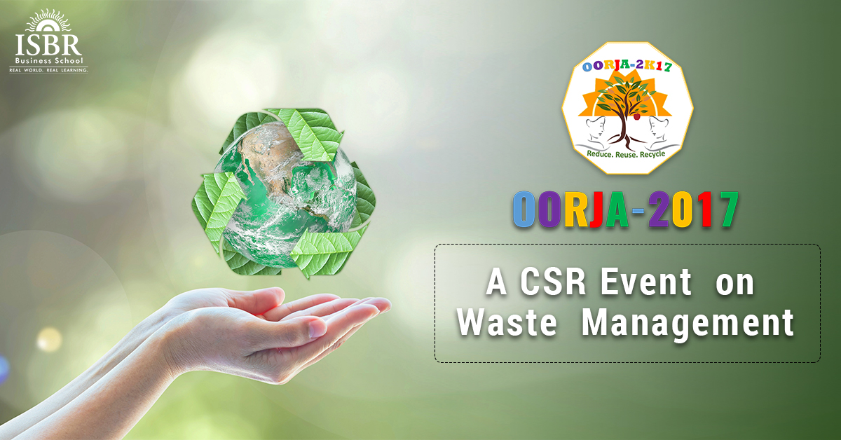Waste Management- A CSR Activity @ ISBR
